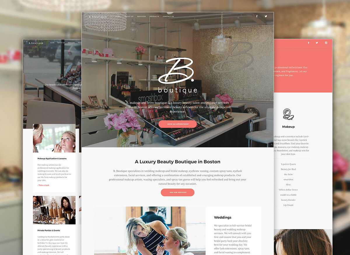 B.Boutique Salon Website