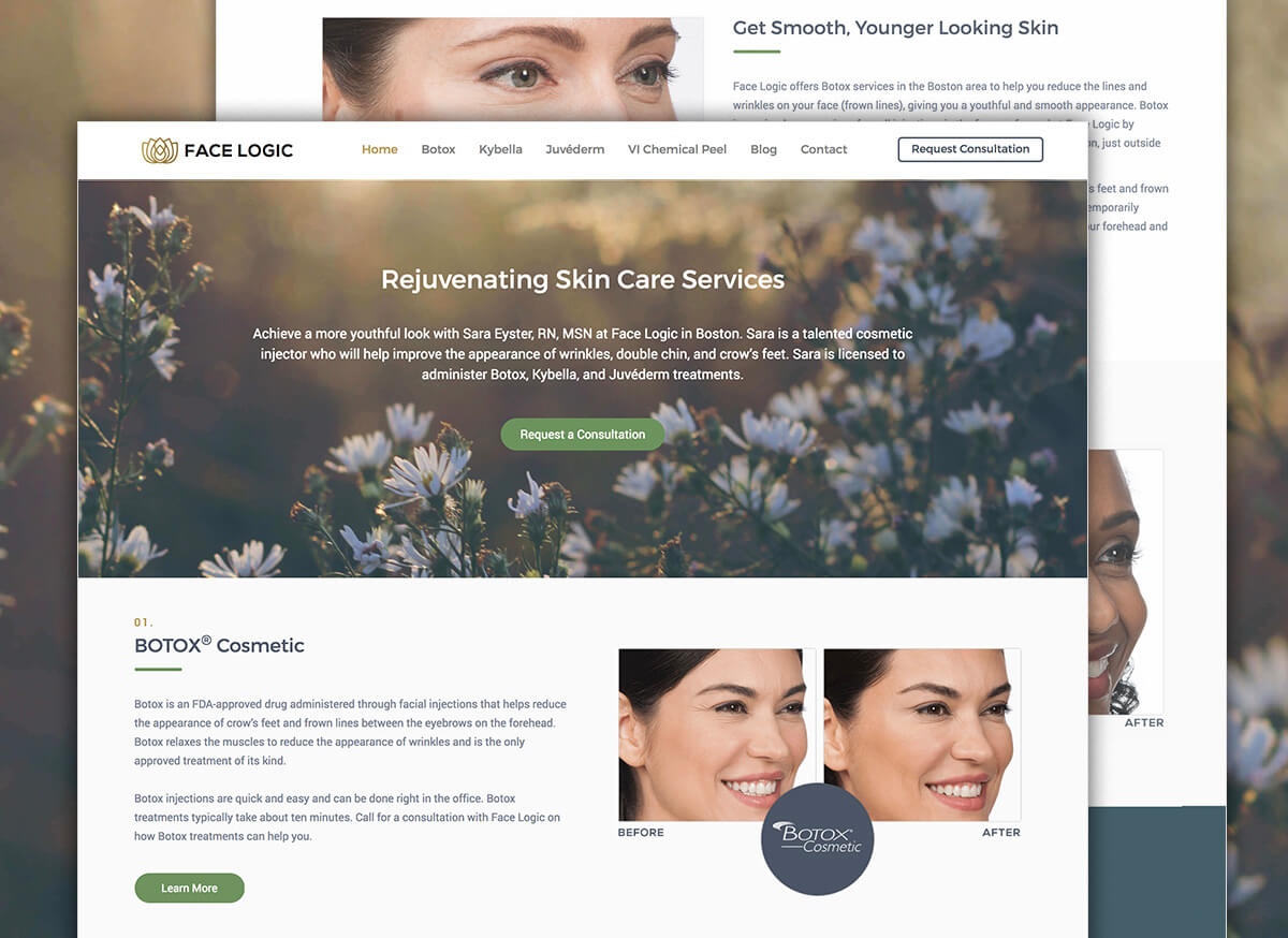 Face Logic Spa Website